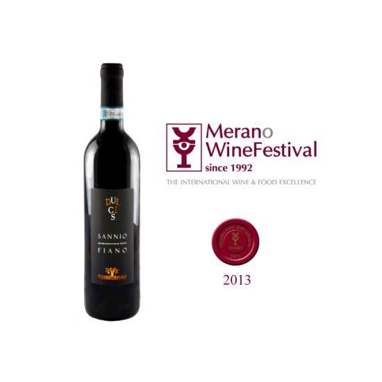 Medaglia Rossa per DULCIS Sannio DOP Fiano annata 2011 , un prestigioso riconoscimento quello ottenuto al Merano Wine Festival , una delle principali e importanti manifestazioni per il settore enologico italiano.